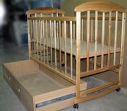 Кроватка детская с ящиком