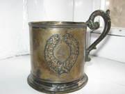 машинка SINGER и серебрянная кружка 18-19 век