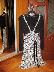 Черно-белое Платье на Осень!