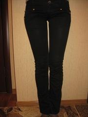 Черные коттоновые штаны