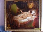 Картина ДАНАЯРембрандт, (копия)