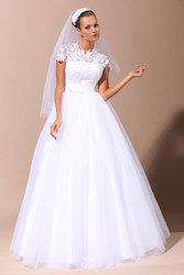 кружевное свадебное платье ручной работы!
