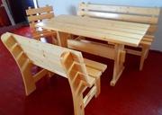 столы, стулья, лавки из натурального дерева
