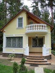 Декор для фасадов - карнизы,  молдинги,  пилястры,  колонны