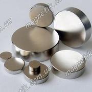Постоянные сверхсильные неодимовые магниты в форме никелированной шайб