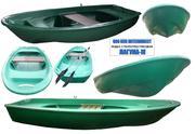 Лодка (моторно- гребная)  стеклопластиковая Лагуна-М длина 3.5 метра.