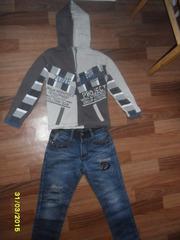 Джинсы на мальчика 6 - 8 лет б/у весна/осень - Детская одежда