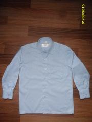 Классическая рубашка на мальчика 6-8 лет,  б/у,  в отличном сост