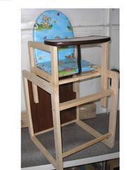 Продам новый стульчик для кормления. Деревянный. Переделывается в парт